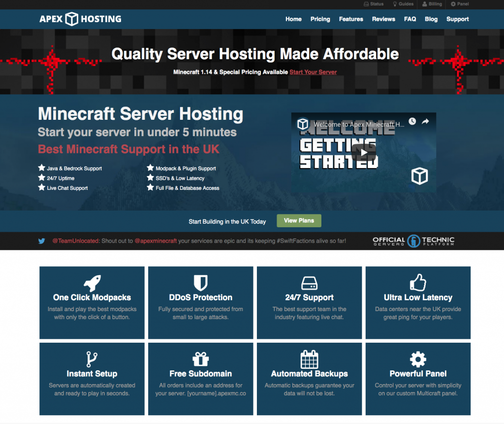 Best Minecraft Server Hosting 2019
